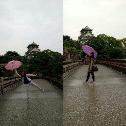 Tetep foto-foto walaupun lagi hujan-hujanan